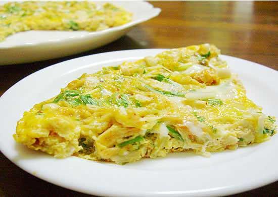 漬物レシピ キムチのオープンオムレツ